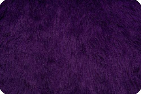 Luxury shag fur purple