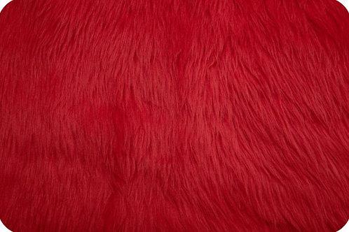 Luxury shag fur red