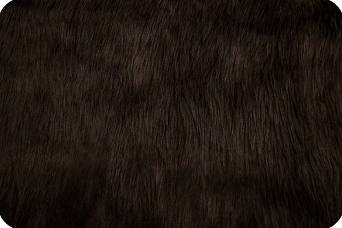Luxury shag fur brown