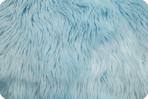Luxury shag fur baby blue