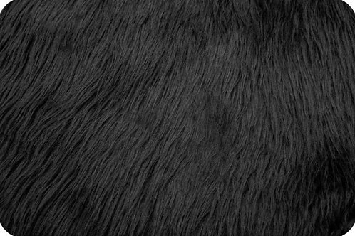 Luxury shag fur Black