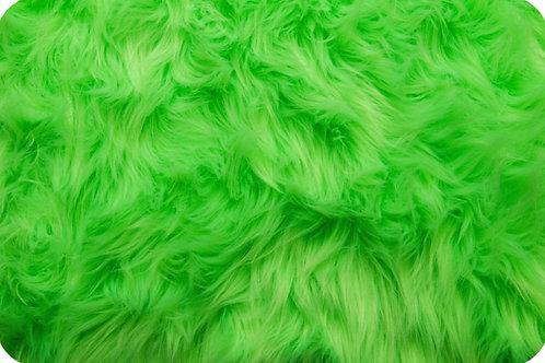 Luxury shag fur Neon Green