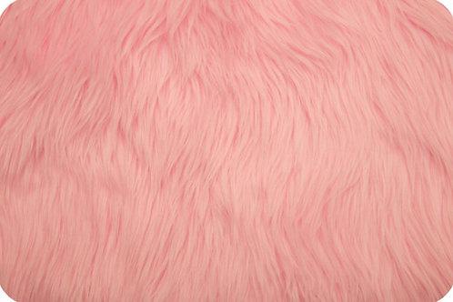 Luxury shag fur baby pink