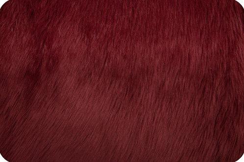 Luxury shag fur Maroon