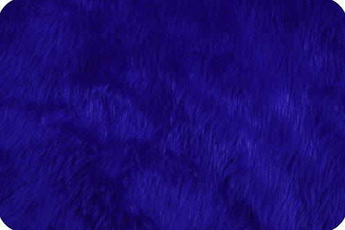 Luxury shag fur Royal blue