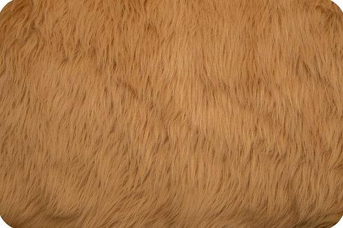 Luxury shag fur camel