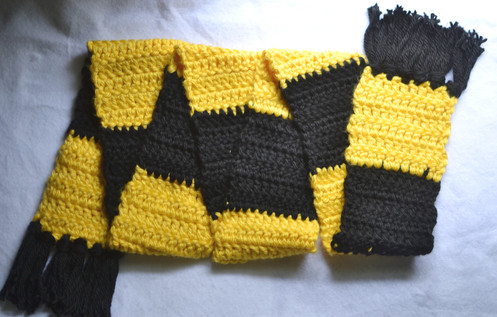 Luxurious Hufflepuff Inspired Scarf