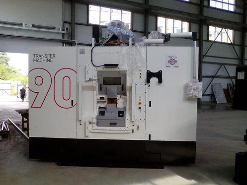 FLEXIBLE TRANSFER MACHINE FMF-13-125-CNC 13 operating units 9 Horizontal Turret