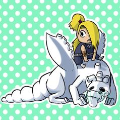 smol Deidara and C2 dragon