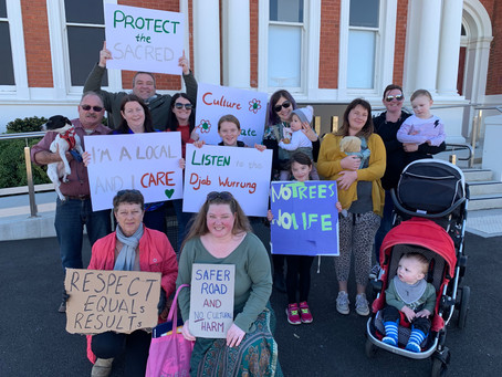 Local supporters call for kindness