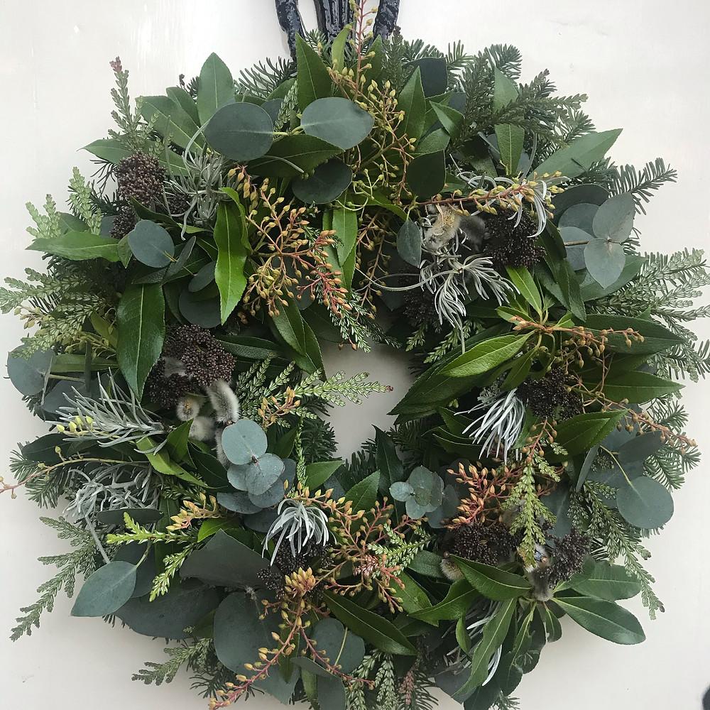 Wreath workshop at Kemnay House