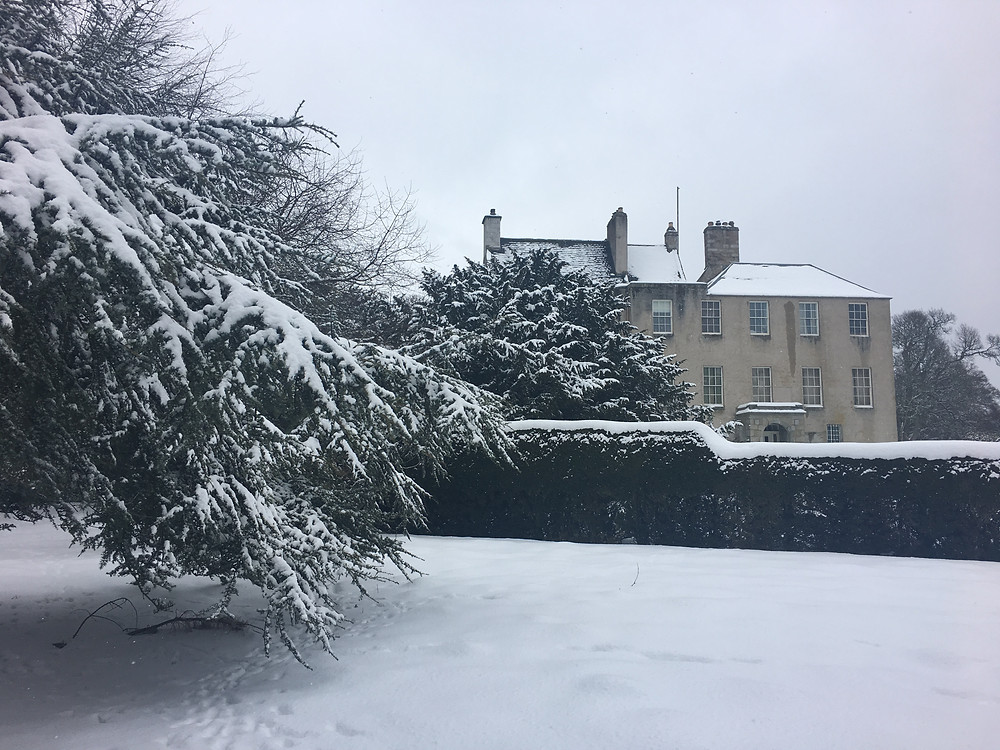 A liberal frosting of Kemnay House