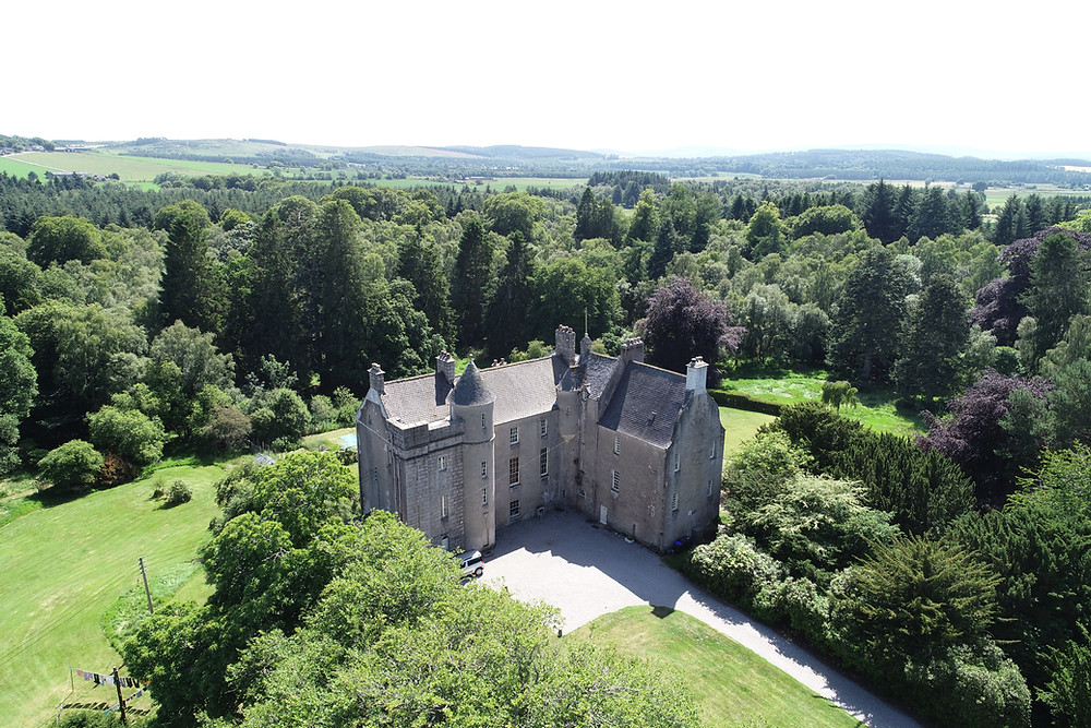 Kemnay house from the air