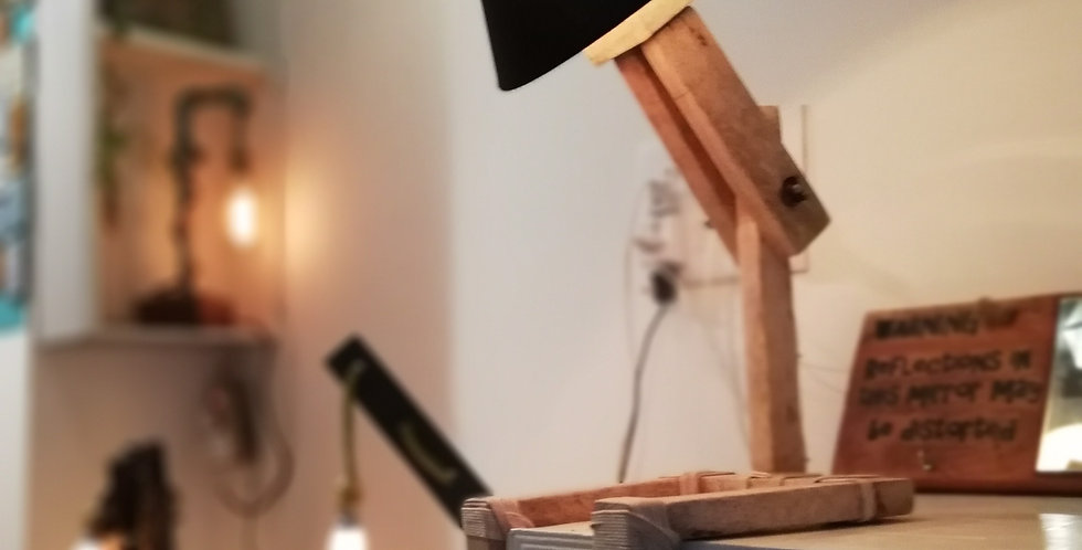 Stick Figure Wooden Lamp