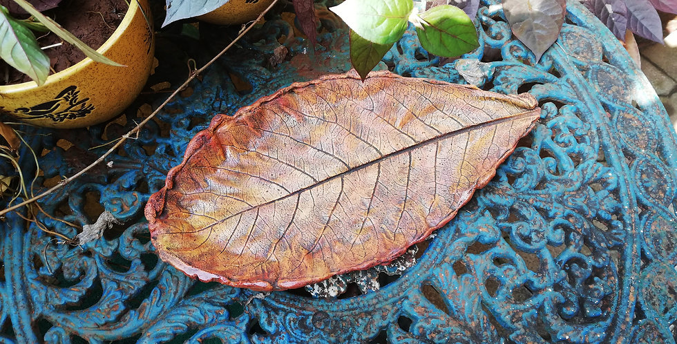 Concrete Leaf Rust for garden or balcony decor