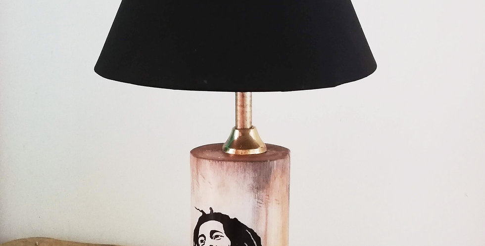 Tree Trunk Lamp: Bob Marley
