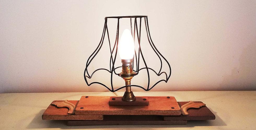 Wooden Desk Lamp Rustic