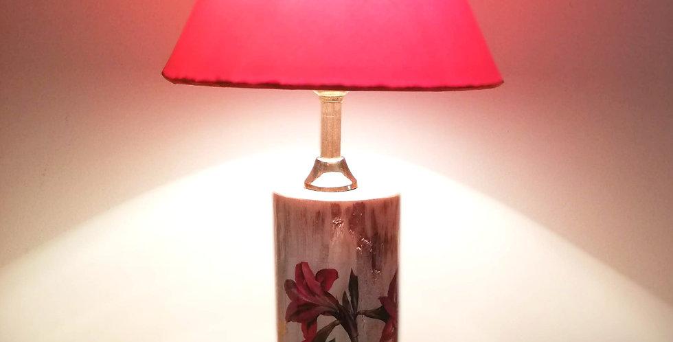 Wild Flowers Tree Trunk Lamp