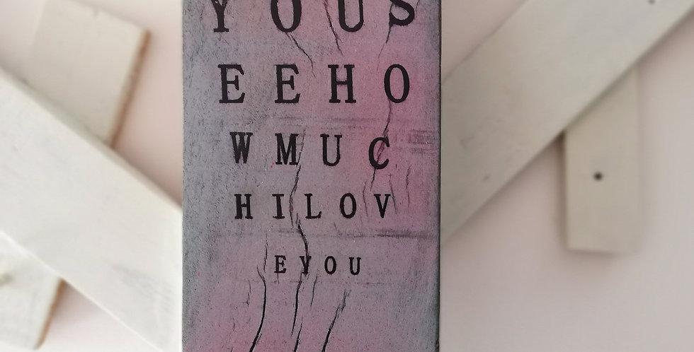 Eye Test Wooden Hanger