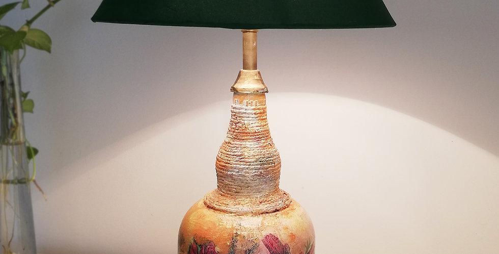Wild Flowers Glass Bottle Lamp