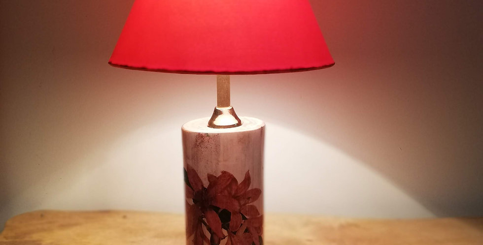 Lily Tree Trunk Lamp