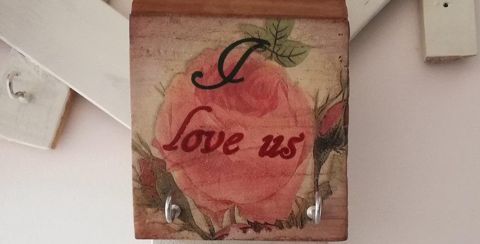 Love Us Wooden Hanger