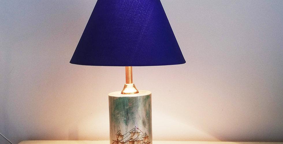 Tree Trunk Lamp Ship