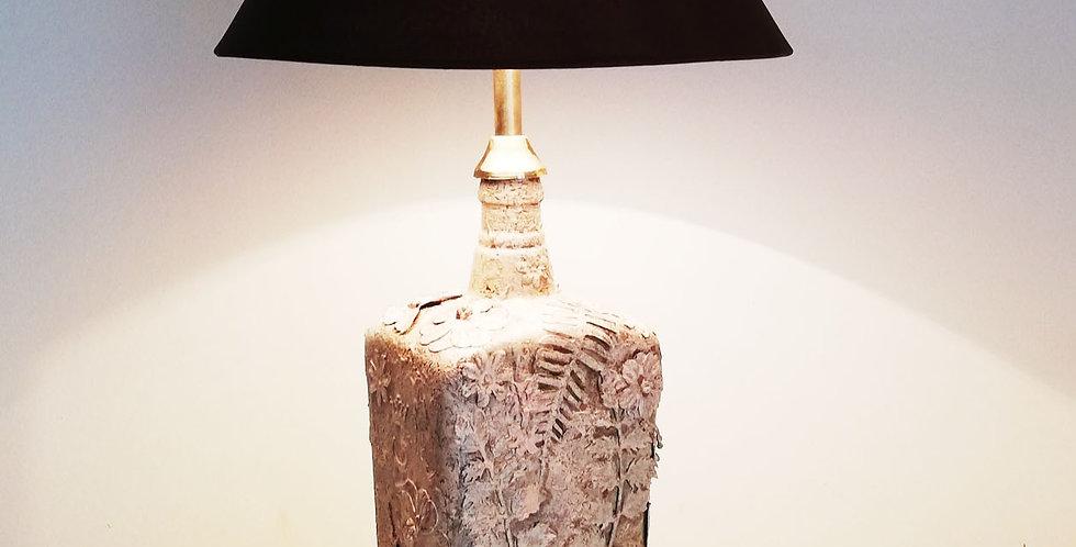 Sandstone textured Glass Bottle Lamp
