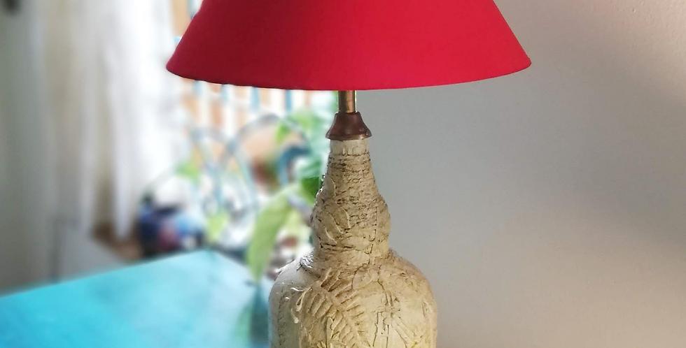 Bamboo Pattern Glass Bottle Lamp