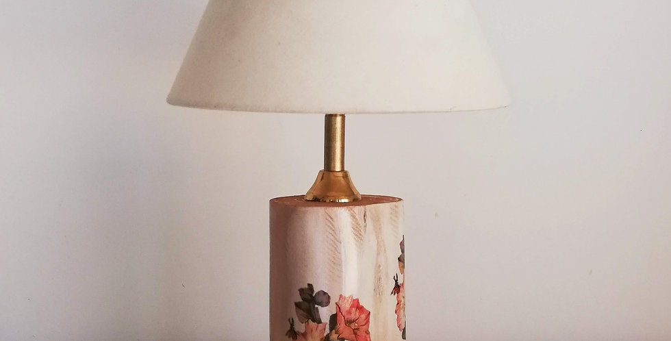 Tree trunk lamp Floral