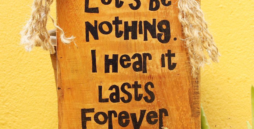Forever Wooden Hanger