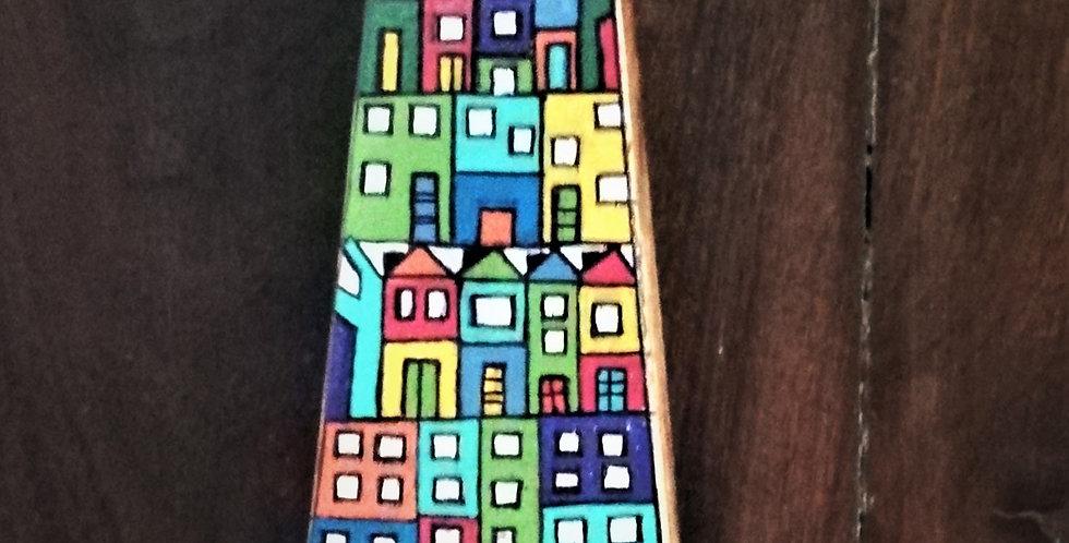 Colourful houses Key Holder 1