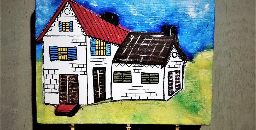 Colourful houses hanger 2