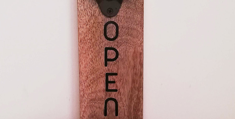 Wall mounted bottle opener 2
