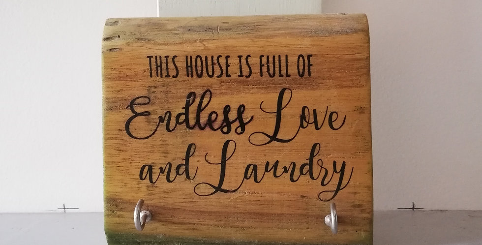 Love & Laundry Wooden Hanger