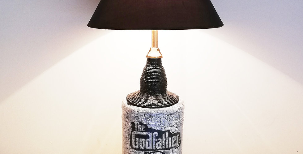 The Godfather Glass Bottle Lamp
