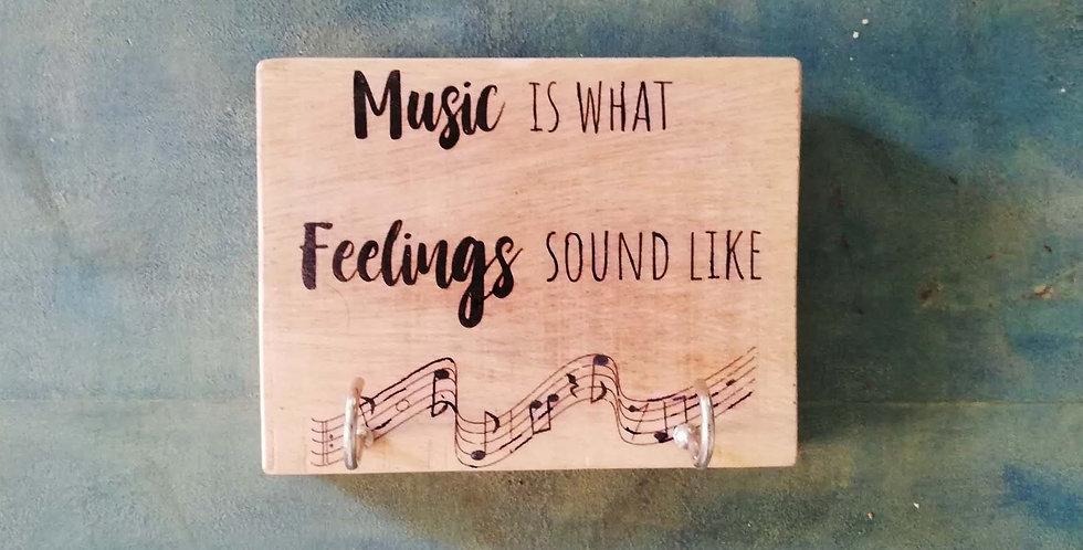 Music Message Hanger
