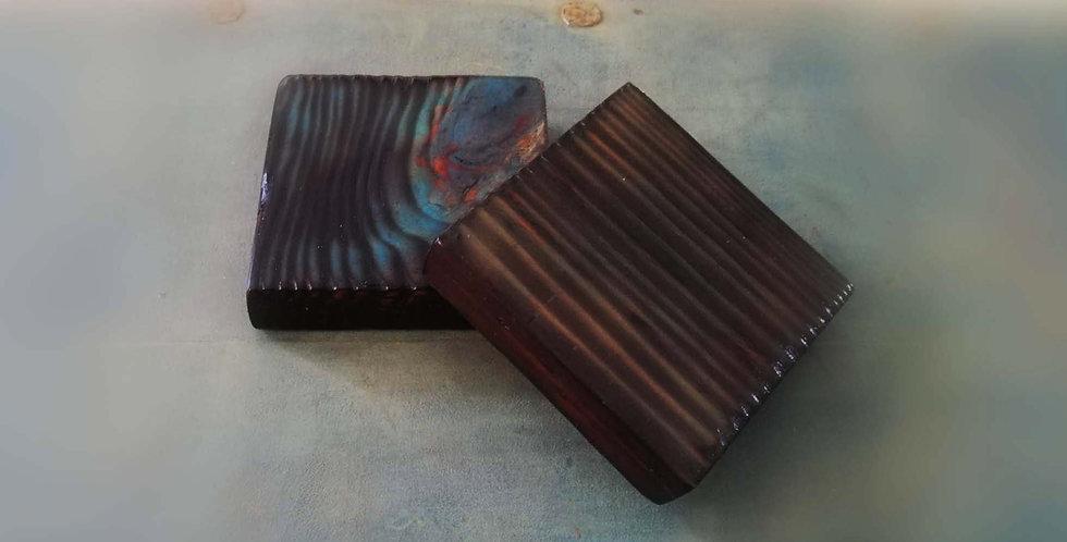 Trivets Blue & Teak wood