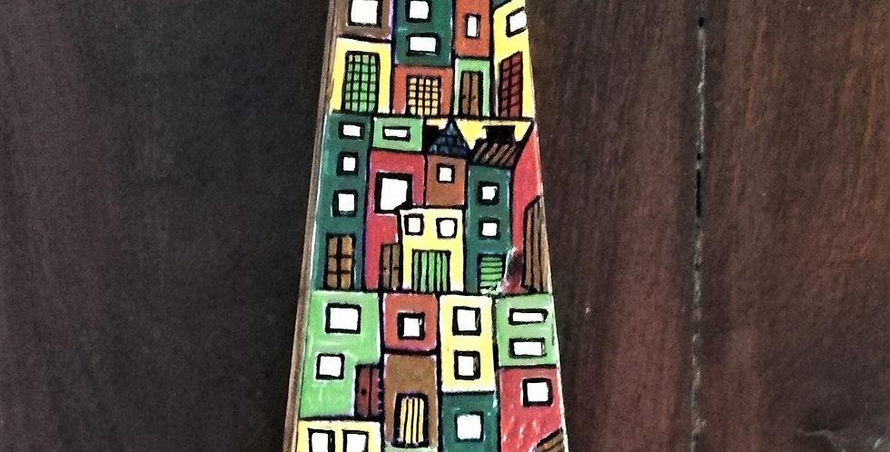 Colourful houses Key Holder2