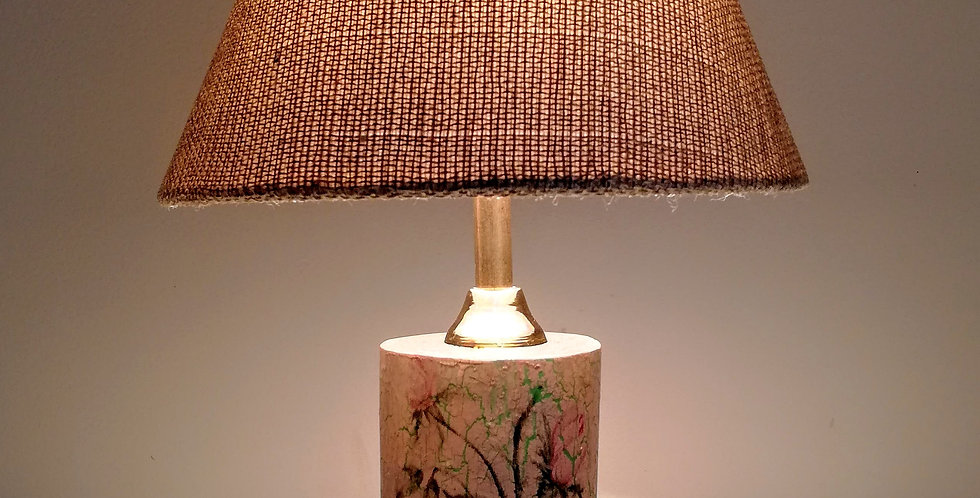 Tree trunk lamp textured