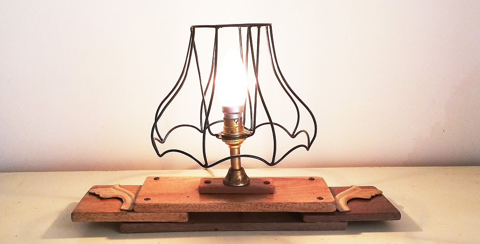 Wood & Iron Desk Lamp