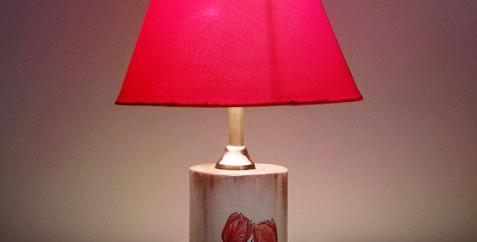 Tree trunk lamp Tulips