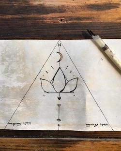 Mystic Art with Gold Leaf