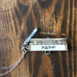 Silver Scribal Necklace