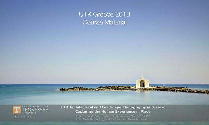 UTK Greece 2019 Course Material