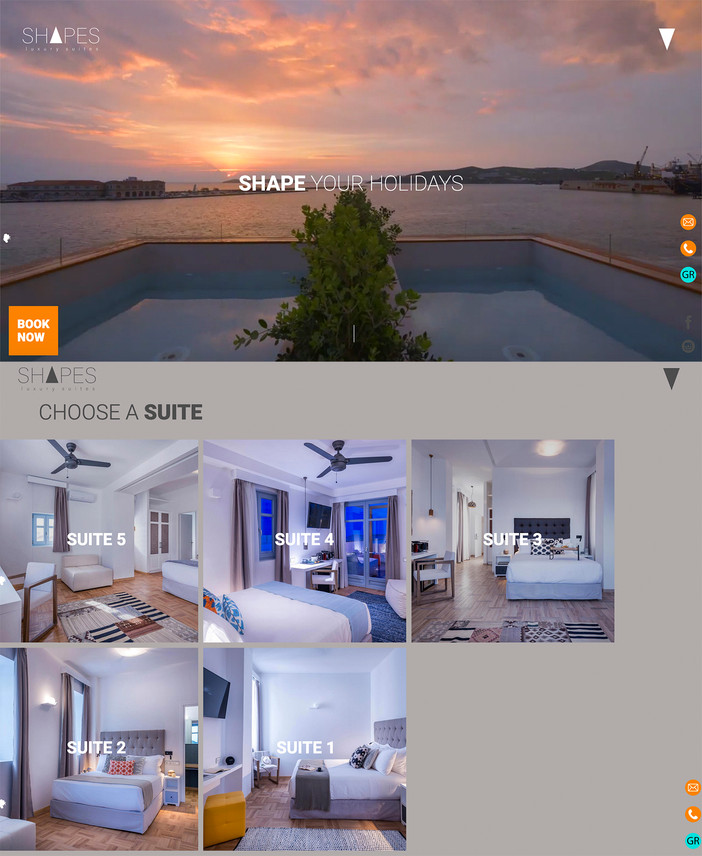 Shapes Luxury Suites Syros website launch