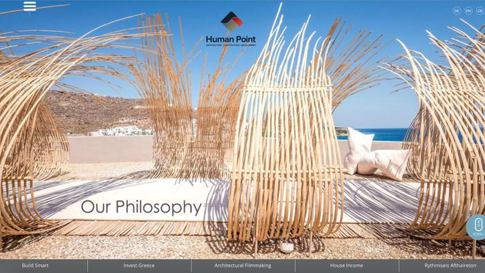 Human Point Architects renewed website featuring TRU Paradise Club