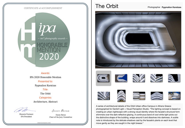The Orbit receives Honorable Mention at IPA 2020