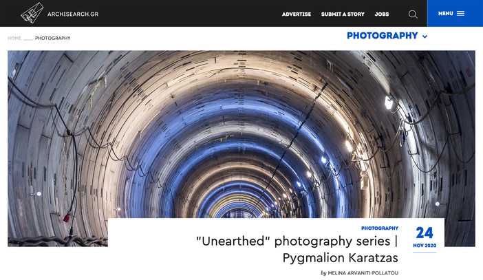 Unearthed - Attiko Metro series featured on archisearch.gr