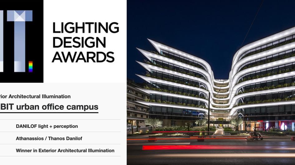 The Orbit and Danilof Light + Perception awarded at the Lighting Design Awards 2020
